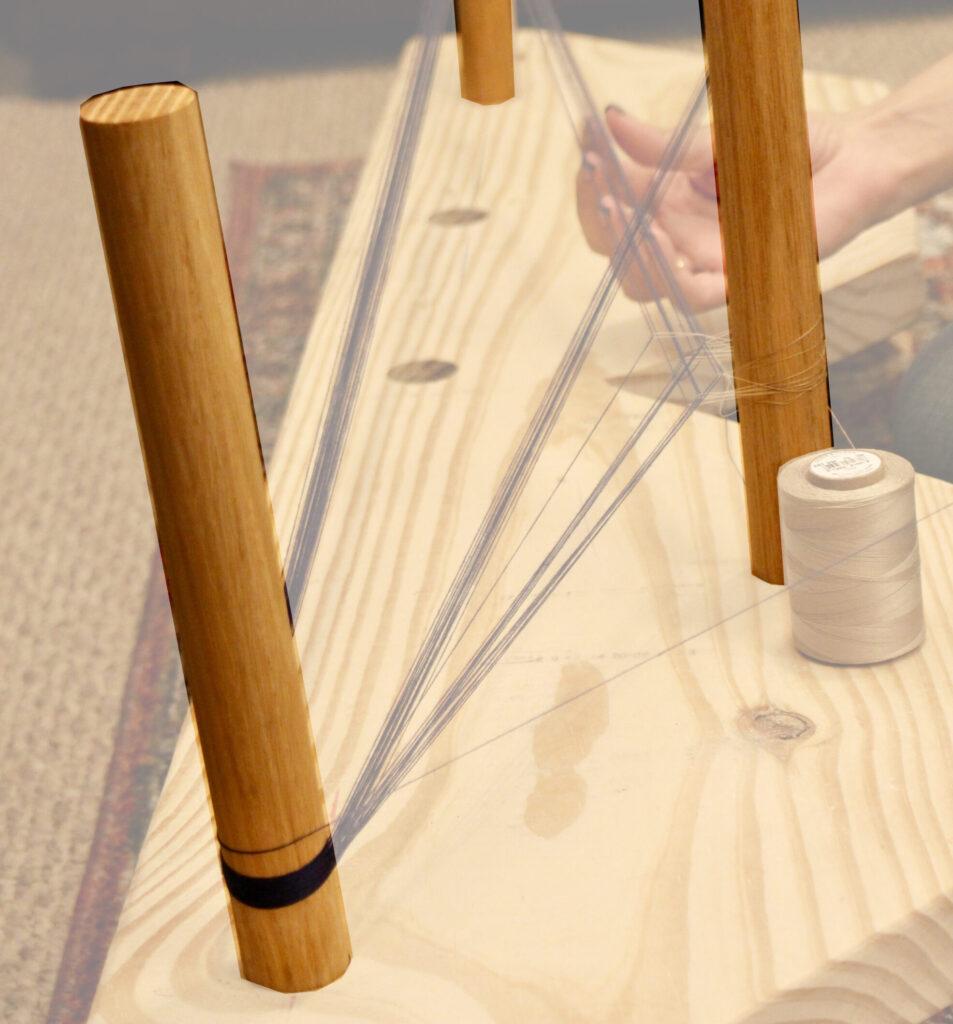 Pegs of a lavalava warp board